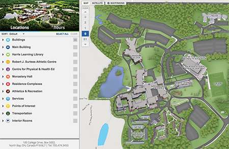 university of mobile campus map About The Campus Map Nipissing University university of mobile campus map