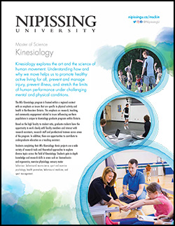 MSc Kinesiology brochure cover