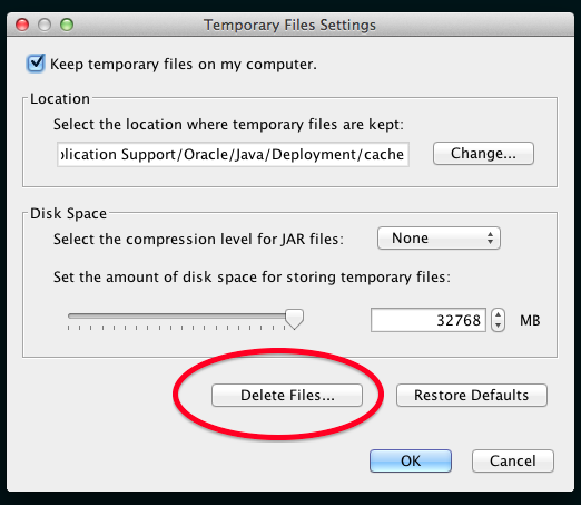 Delete Java Files
