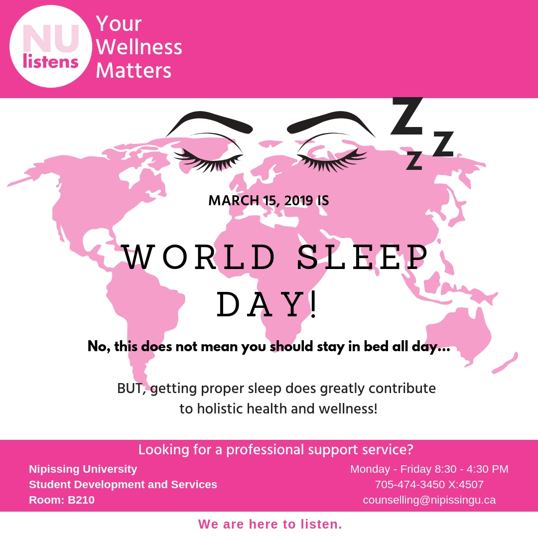 March 15th is World Sleep Day