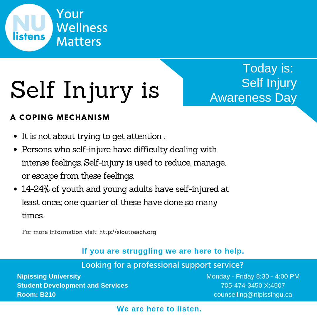 March 1st is Self Injury Awareness Day