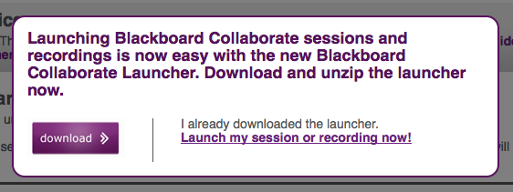 Blackboard Collaborate Launch