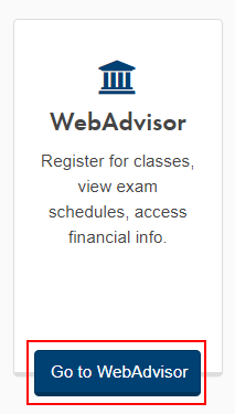 "Click the ""Go to WebAdvisor"" button on my.nipissingu.ca"