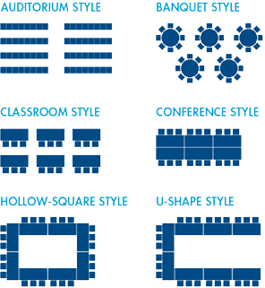 On-Campus Event Request Room Setup Options