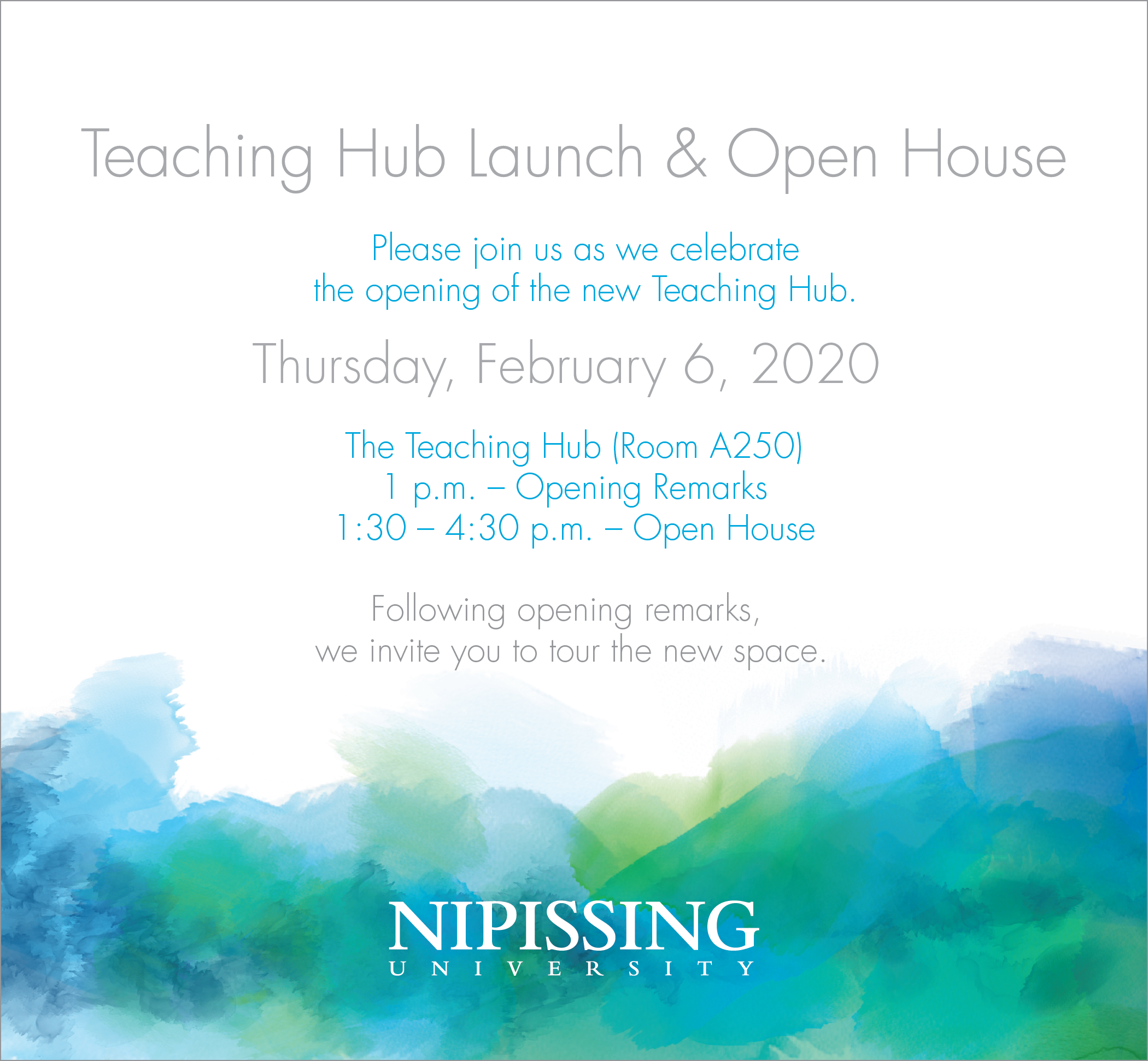 Teaching Hub Launch and Open House