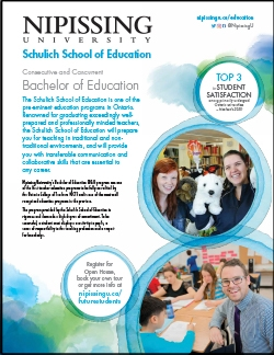 Bachelor of Education (BEd) program brochure cover