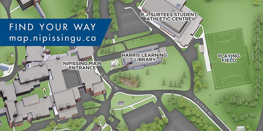 Find your way around campus using our interactive 3D map