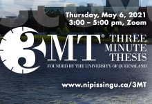 Three Minute Thesis Competition, May 6, 2021
