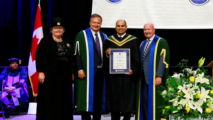 Chancellor's Award Recipient Dr. Mukund Jha