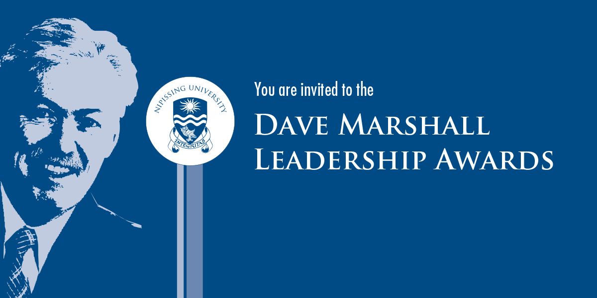 Dave Marshall Leadership Awards at Nipissing University