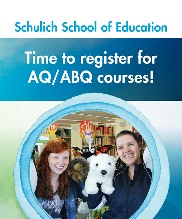 Register for AQ/ABQ courses at Nipissing University