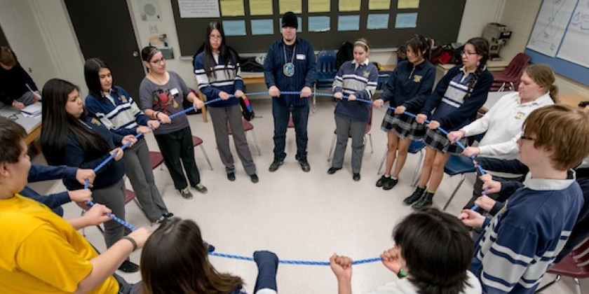 ​Wiidooktaadwin Mentors lead activities at local high school ​
