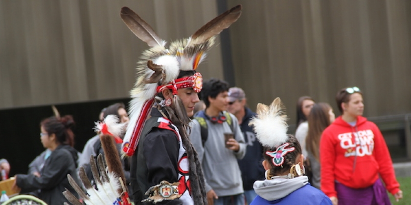 Students from Nipissing, Canadore and Community High School Participate in Welcome Powwow​