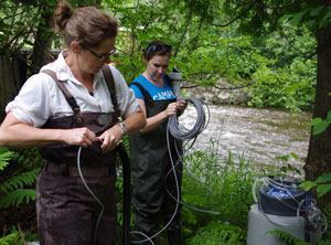 watershed hydrology researchers in the field